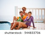 mother  daughter and son are... | Shutterstock . vector #544833706