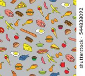 seamless colorful pattern with... | Shutterstock .eps vector #544838092