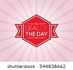 deal of the day poster.... | Shutterstock .eps vector #544838662
