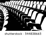 empty rows of theater or movie... | Shutterstock .eps vector #544838665