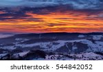 Colorful Winter Sunset Sky  ...