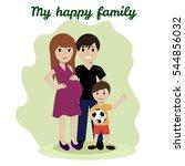 happy family  friendship... | Shutterstock . vector #544856032
