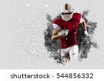 football player with a red... | Shutterstock . vector #544856332