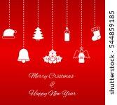 hanging christmas symbols | Shutterstock .eps vector #544859185