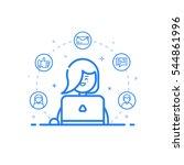 vector illustration of blue... | Shutterstock .eps vector #544861996
