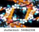 colorful lighting bokeh... | Shutterstock . vector #544862338