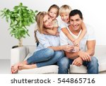 happy family. | Shutterstock . vector #544865716