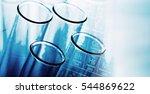 tube on chemical background.