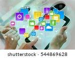business people work on digital ... | Shutterstock . vector #544869628