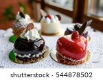 cakes covered with glance glaze ...   Shutterstock . vector #544878502