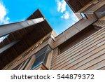 modern timber clad building... | Shutterstock . vector #544879372