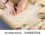 step by step. making homemade... | Shutterstock . vector #544883506