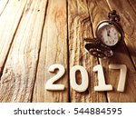 happy new year 2017 alphabet on ...   Shutterstock . vector #544884595