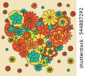 doodle abstract heart. vector...   Shutterstock .eps vector #544887292