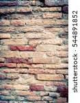 old red brick wall textures and ... | Shutterstock . vector #544891852