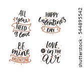 set of valentines day letters.... | Shutterstock .eps vector #544895542
