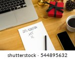 new year's resolutions on the... | Shutterstock . vector #544895632