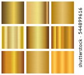 vector set of gold gradients... | Shutterstock .eps vector #544899616
