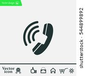 telephone icon | Shutterstock .eps vector #544899892