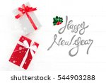 happy new year text on white... | Shutterstock . vector #544903288