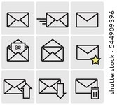 mail line icons | Shutterstock .eps vector #544909396