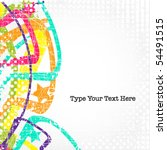 vector retro background | Shutterstock .eps vector #54491515
