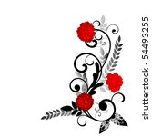 flourish with red flowers | Shutterstock .eps vector #54493255