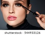 beauty make up. portrait of... | Shutterstock . vector #544933126