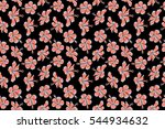 hibiscus flowers and buds retro ...   Shutterstock . vector #544934632