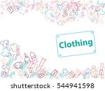 clothing  hats  blouses  shirts ... | Shutterstock .eps vector #544941598