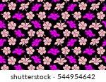 bright hawaiian seamless...   Shutterstock . vector #544954642