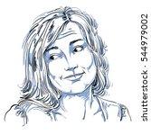 monochrome hand drawn image ... | Shutterstock . vector #544979002
