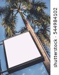 mock u p .  white board sign in ... | Shutterstock . vector #544984102