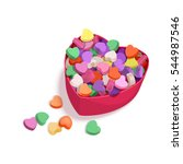 colorful hearts candy for... | Shutterstock .eps vector #544987546