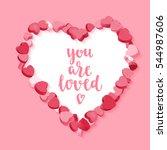 happy valentine's day. modern... | Shutterstock .eps vector #544987606
