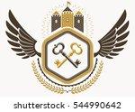 vintage heraldic coat of arms... | Shutterstock . vector #544990642