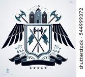 emblem  vintage heraldic design. | Shutterstock . vector #544999372