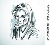 art drawing  portrait of...   Shutterstock . vector #545002102