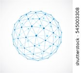 abstract 3d faceted figure with ... | Shutterstock . vector #545003308