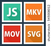 js  mkv  mov  svg. file format...