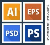 ai eps psd ps file format icons