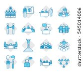 business people icon set vector ...