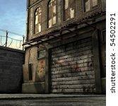 dead end alley scene | Shutterstock . vector #54502291