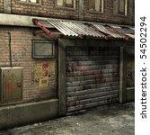 dead end alley scene   Shutterstock . vector #54502294
