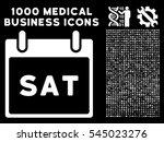 white saturday calendar page...   Shutterstock .eps vector #545023276