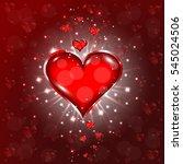 beautiful heart background.... | Shutterstock .eps vector #545024506