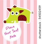cute wild boar tag | Shutterstock .eps vector #54502459