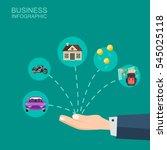 illustration with piggy bank ... | Shutterstock .eps vector #545025118