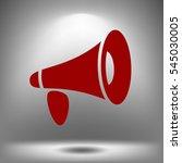 vector loudspeaker icon | Shutterstock .eps vector #545030005