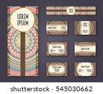 business cards  invitations and ... | Shutterstock .eps vector #545030662